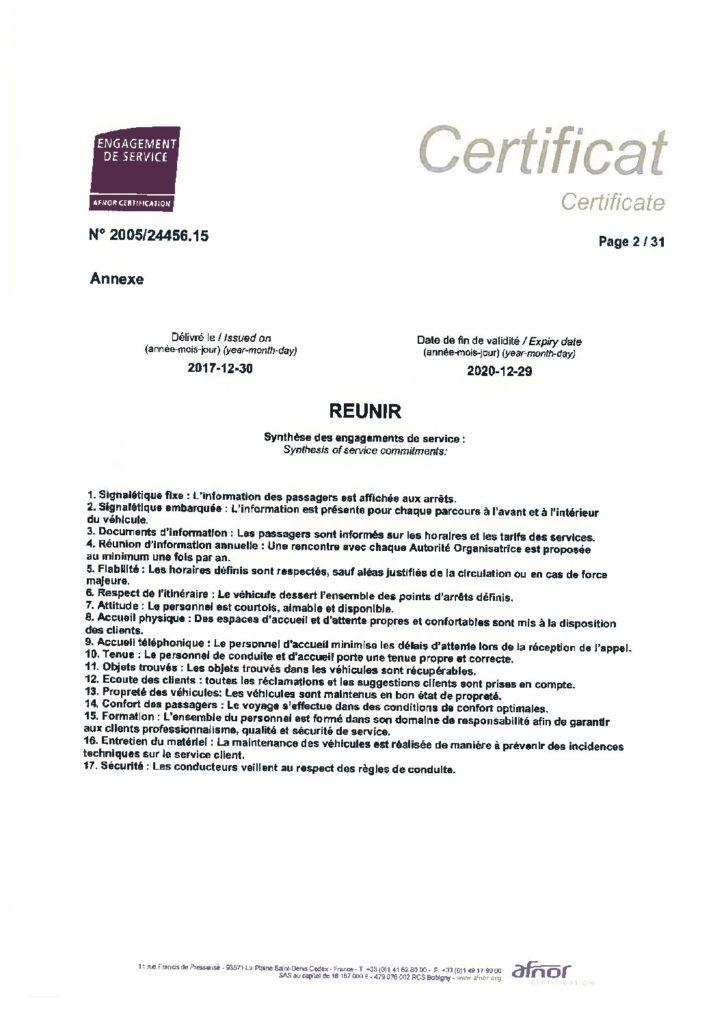 Engagement Qualité - Voyages du Bas Quercy - AFNOR